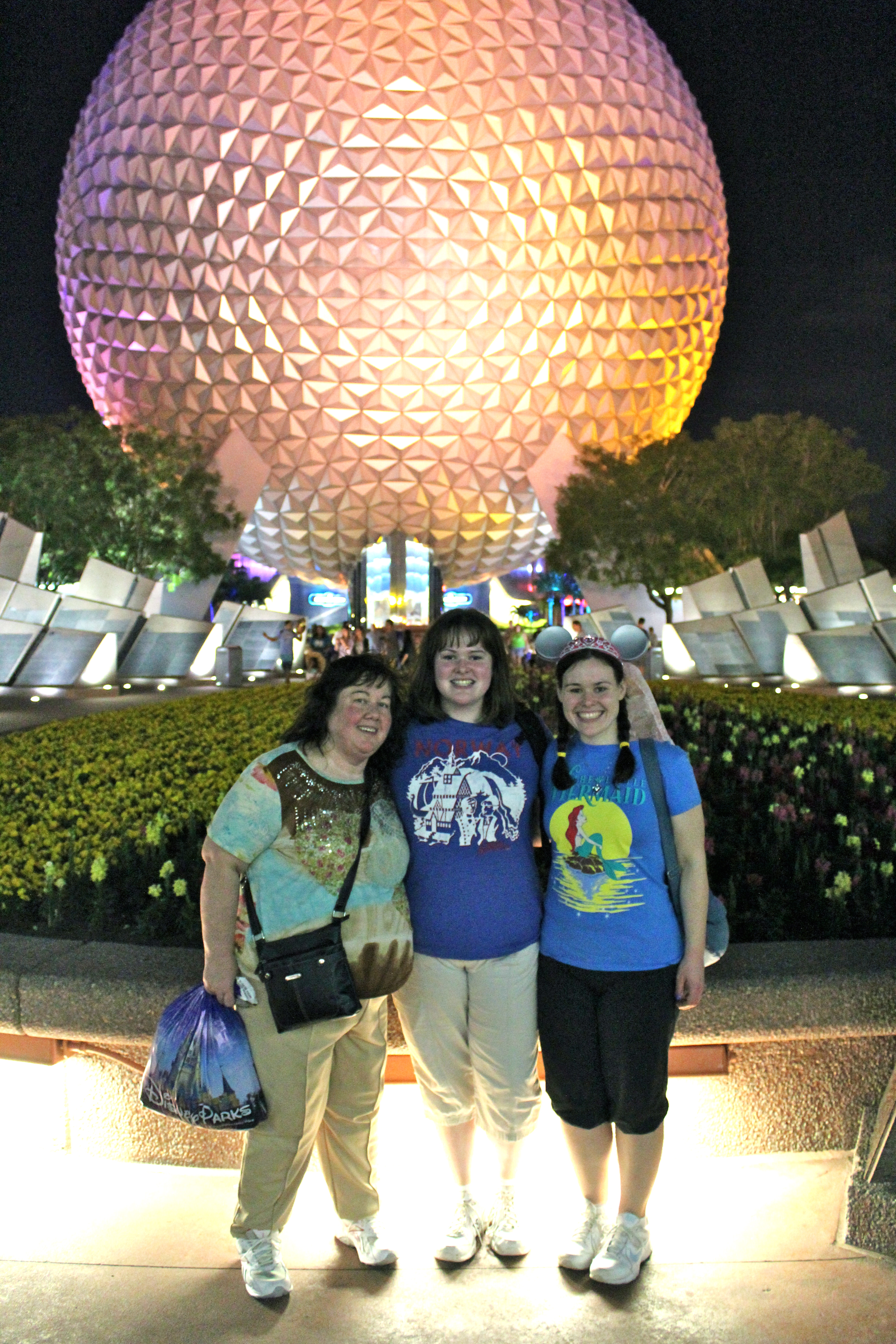 Our first night in Epcot!