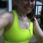 Pretty miserable, but still able to smile after last week's long run...definitely NOT the case today!