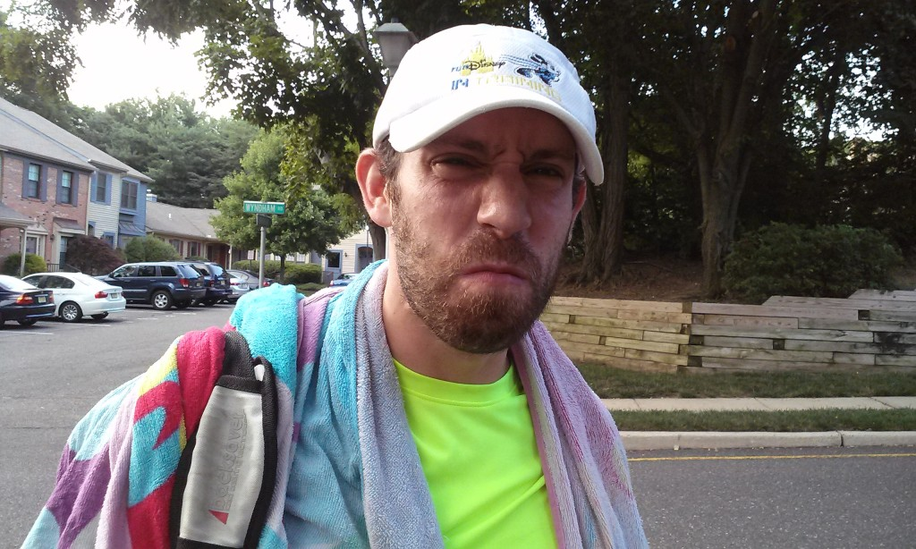 The face Todd claims I make when I'm out running and it's too hot for my liking. Verrry fuuuunnny. ;)